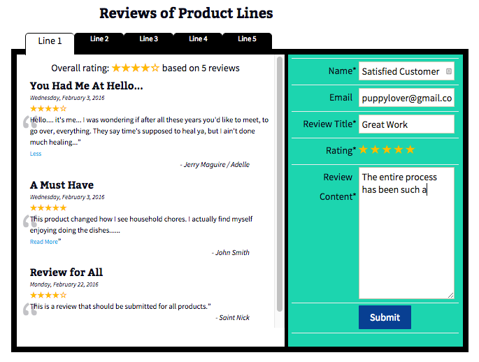 Rich Review template design