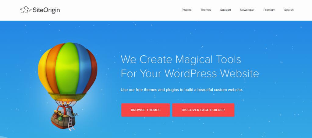 Site Origin WordPress Page Builder