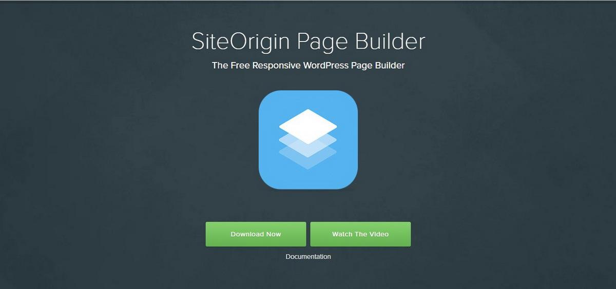 SiteOrigin WordPress Page Builder demo screenshot