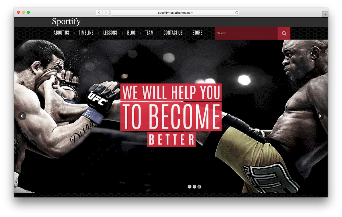 Sportify WooCommerce Theme