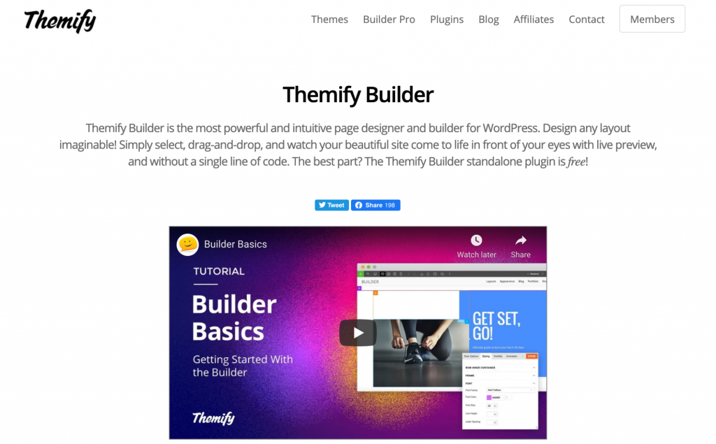 Themify WordPress Page Builder