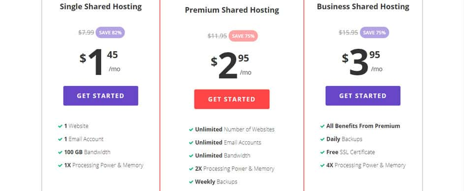 Hostinger Web Hosting Pricing