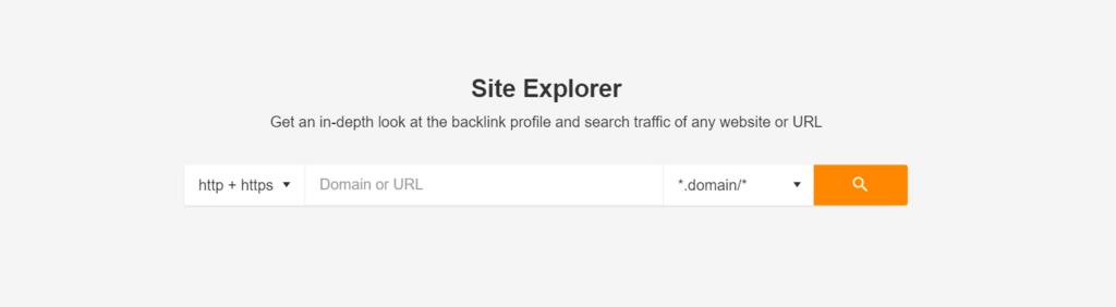 Ahrefs Site Explorer page.