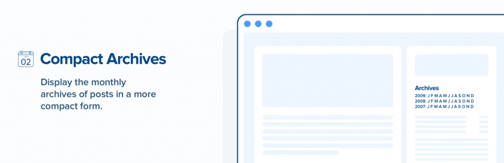 Compact Archives plugin banner