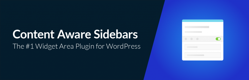 Content Aware Sidebars plugin banner
