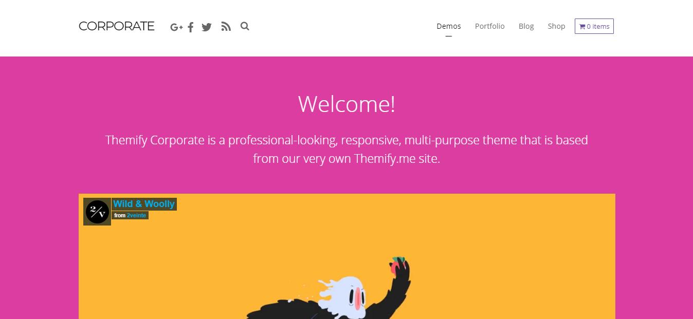 Corporate woocommerce WordPress theme