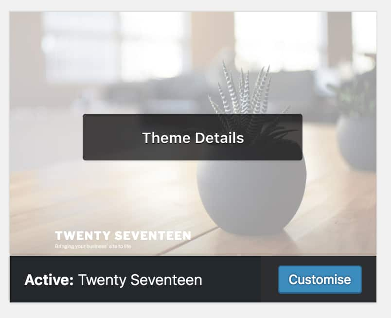 Customize the active theme