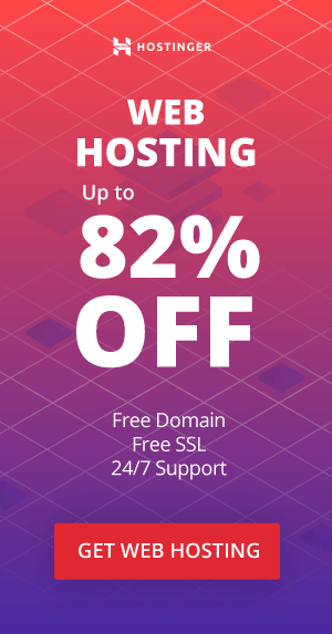 Web Hosting 82% off