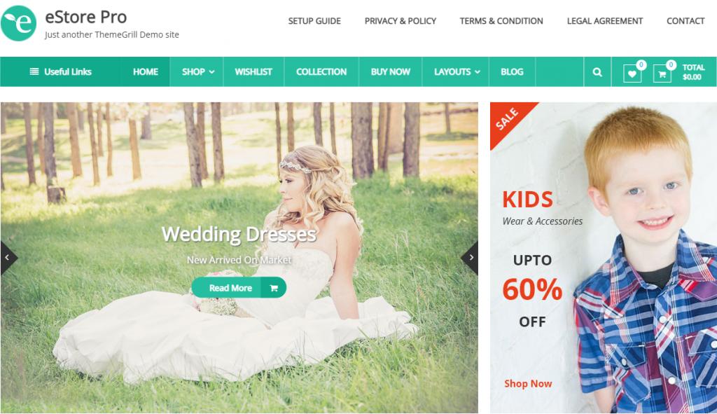 eStore WordPress WooCommerce Theme