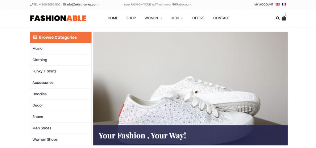 Fashionable Store WordPress WooCommerce Theme