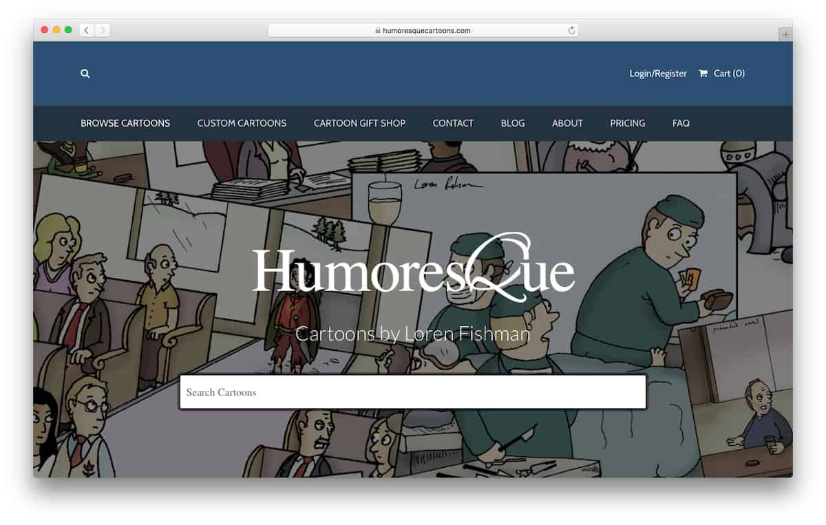 Humoresque Cartoon Website