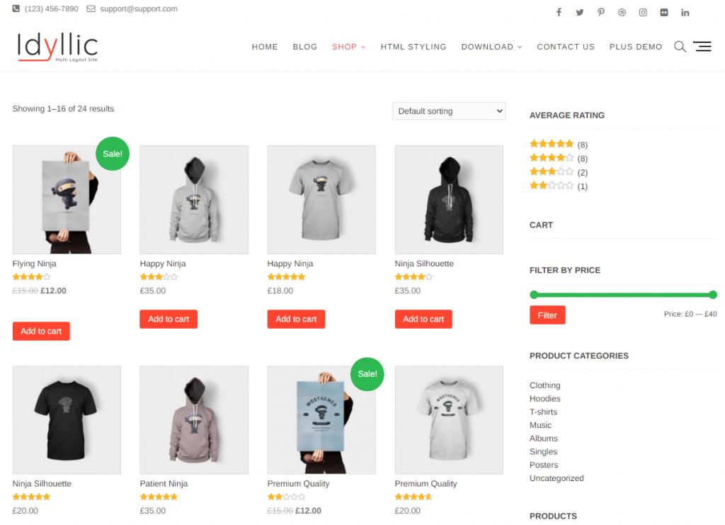 Idyllic WordPress WooCommerce Theme