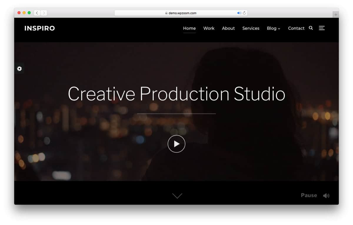 inspiro wordpress video theme