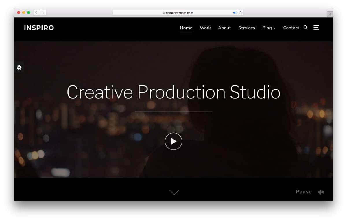 Inspiro wordpress video theme