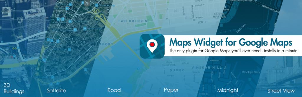 Maps Widget for Google Maps plugin banner