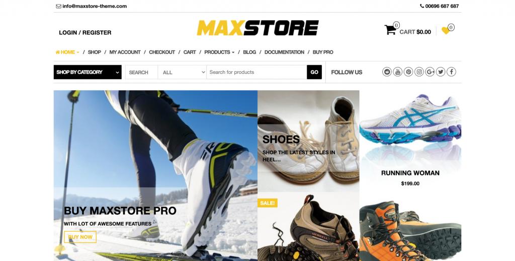 Maxstore WordPress WooCommerce Theme