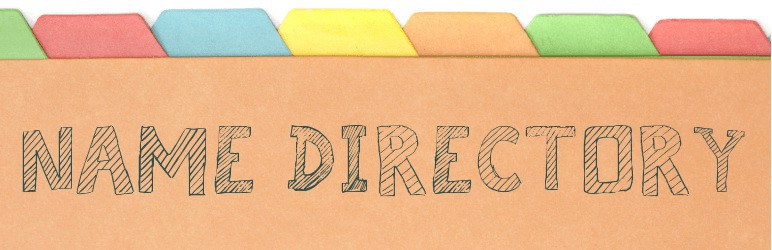 Name Directory WordPress Directory Plugin
