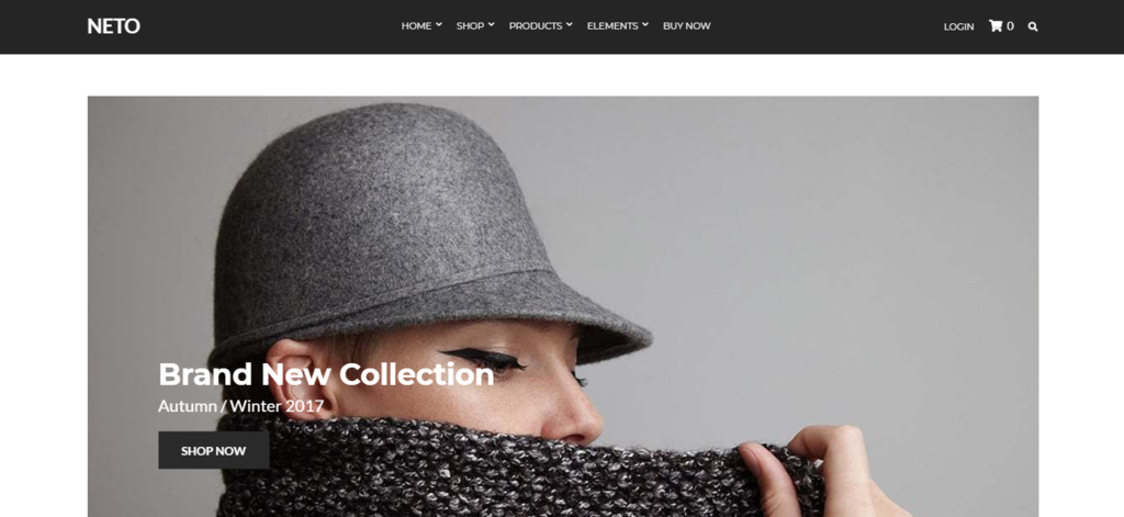 Neto, design and online store woocommerce wordpress theme