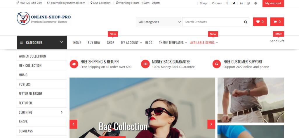Online Shop Pro theme