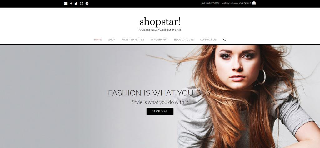 Shopstar WordPress WooCommerce Theme