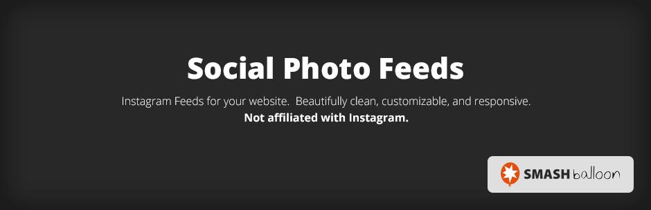Smash Balloon social photo feeds plugin banner
