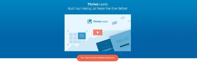 thrive leads plugin for wordpress