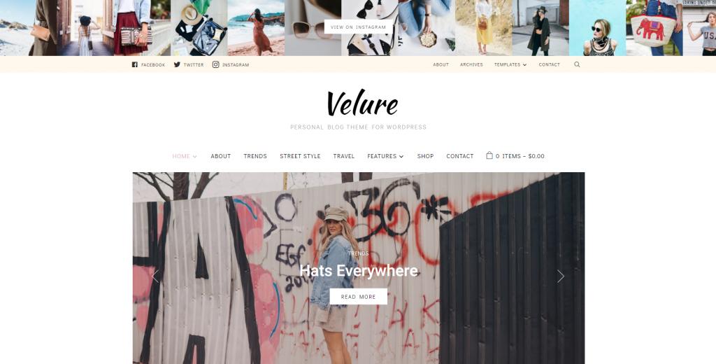 Velure WordPress WooCommerce Theme
