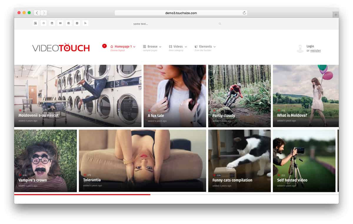 videotouch wordpress video theme