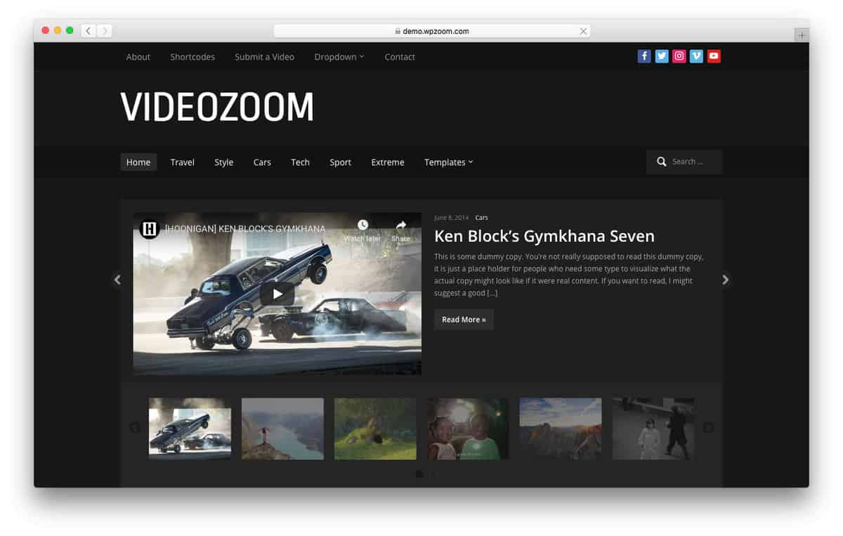videozoom wordpress video theme