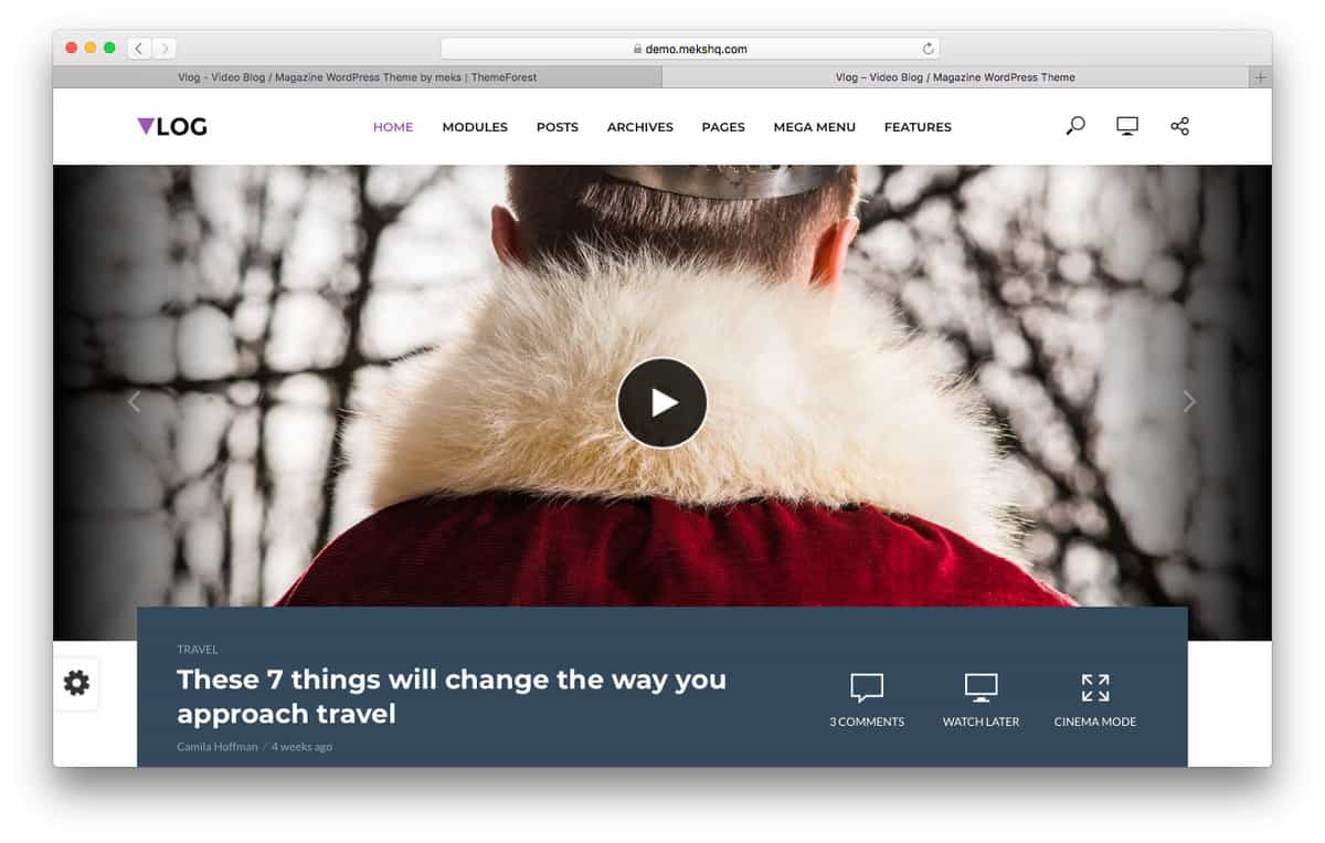 vlog wordpress video theme