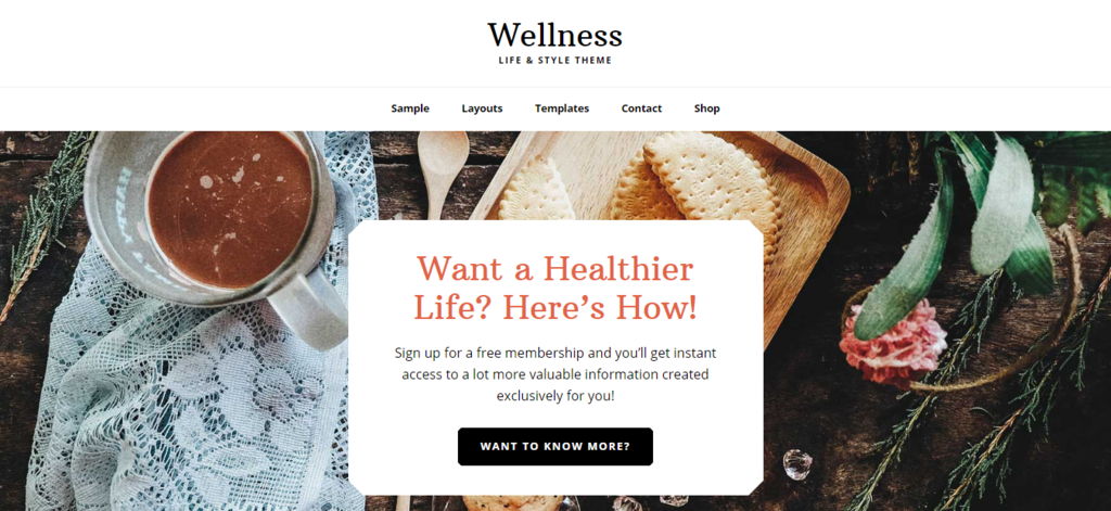 Wellness Pro health and well being woocommerce store theme