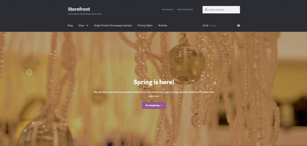 WooCommerce Storefront WordPress WooCommerce Theme