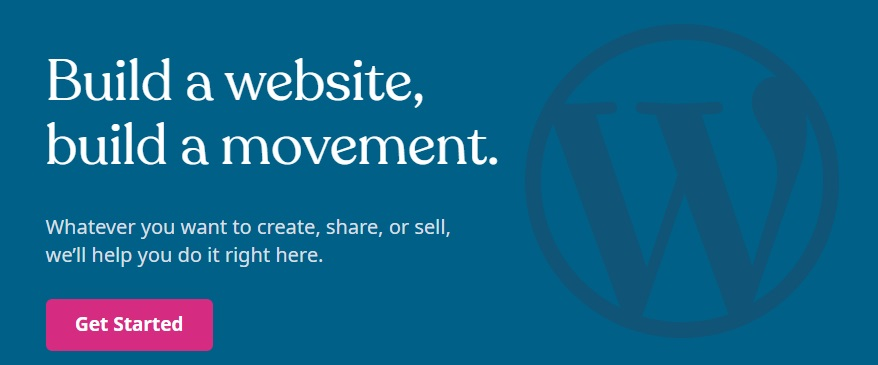WordPress' logo and vision