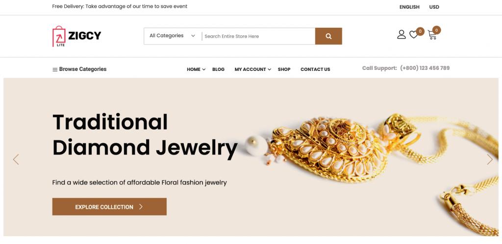 Zigcy Lite WordPress WooCommerce Theme