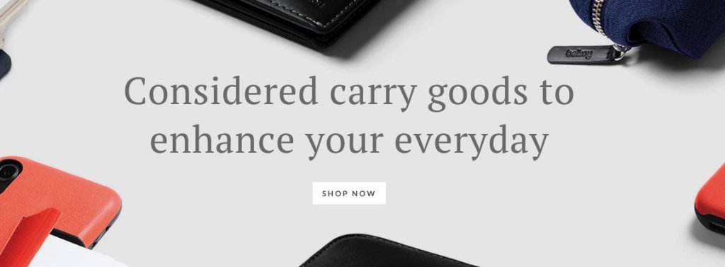 bellroy homepage