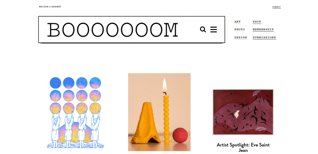Booooom! art blog home page