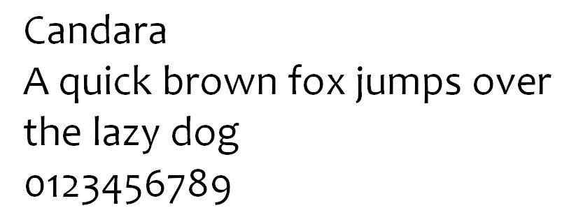 Candara typeface