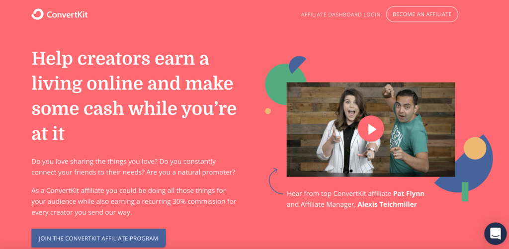 convertkit affiliate page