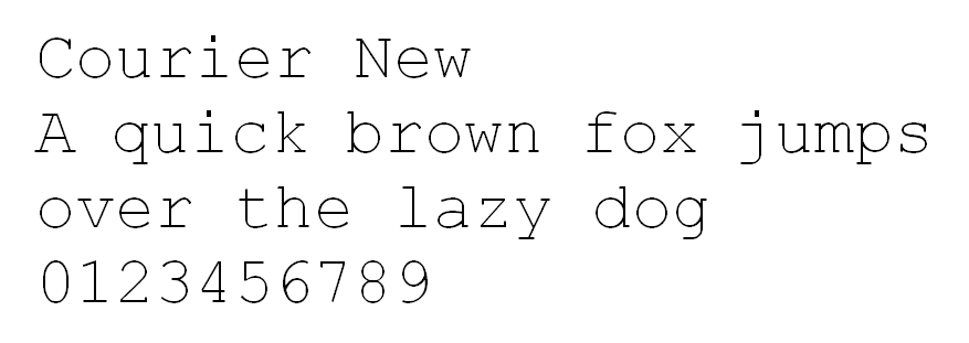 Courier New HTML font