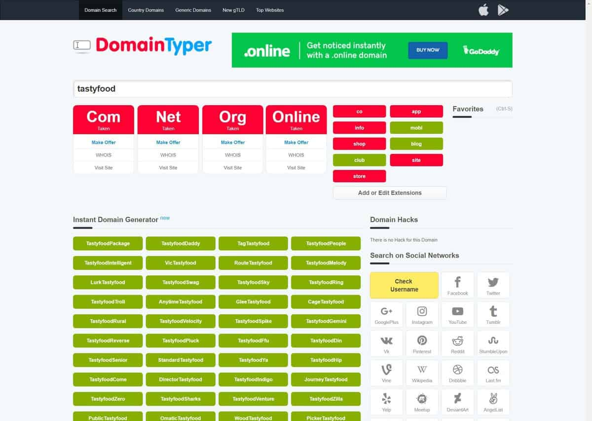 Domain Typer as one of the best domain name generators.