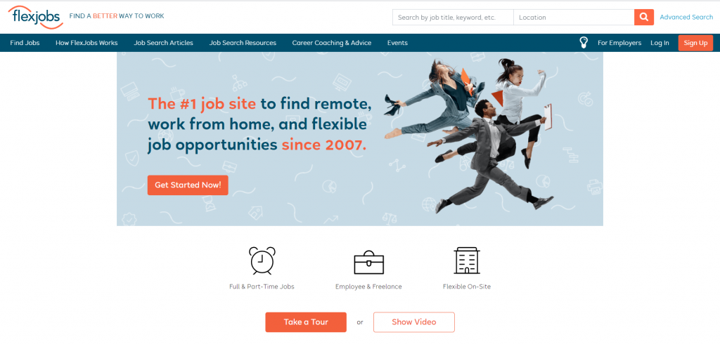 flexjobs home page