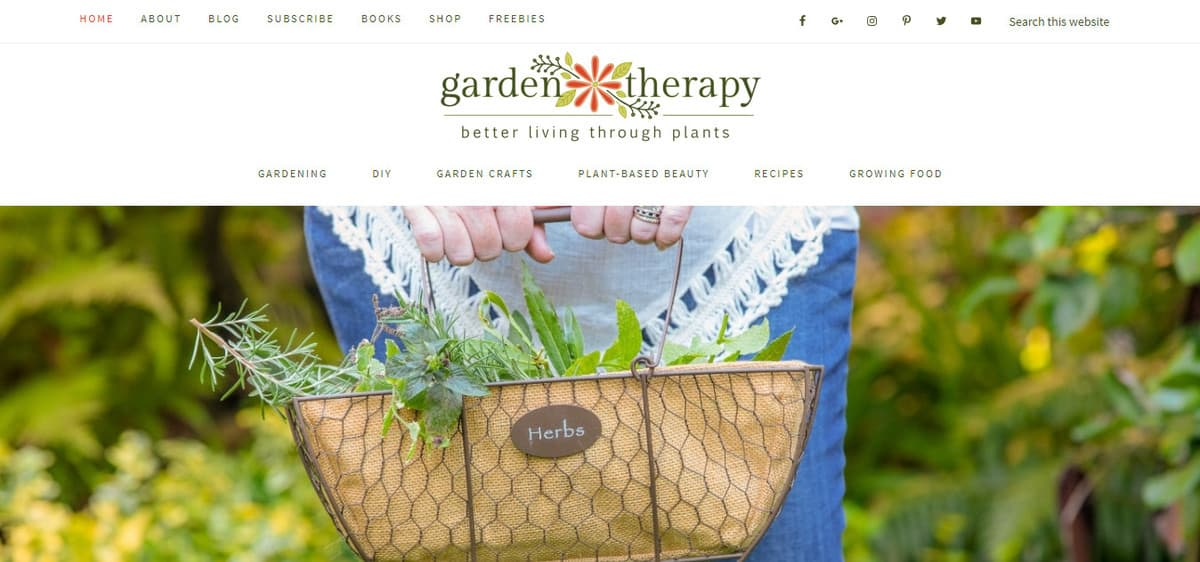 Garden Therapy Gardening Blog Homepage