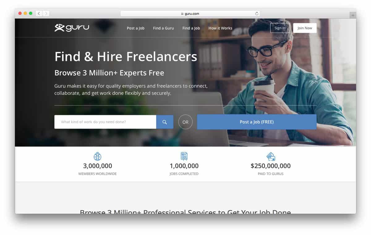 Guru Offers Freelance Jobs for Web Developers