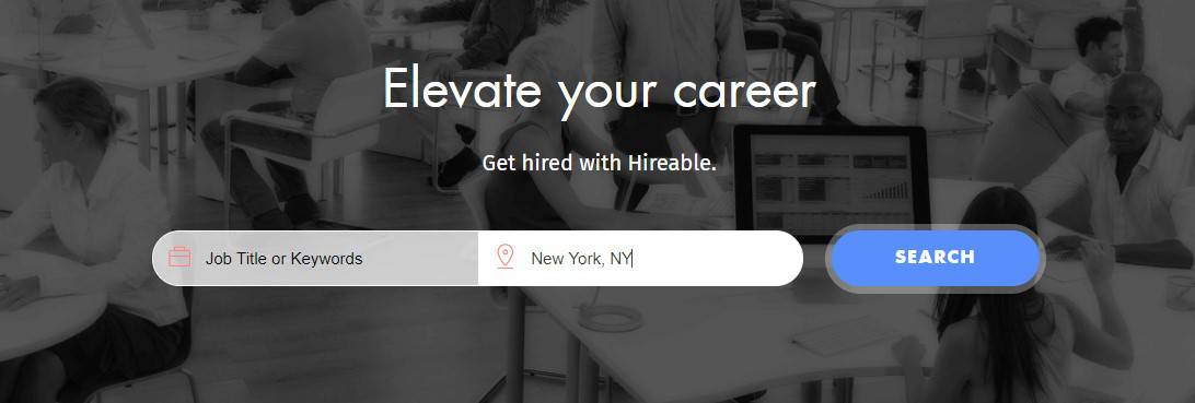 Hireable nearby job search