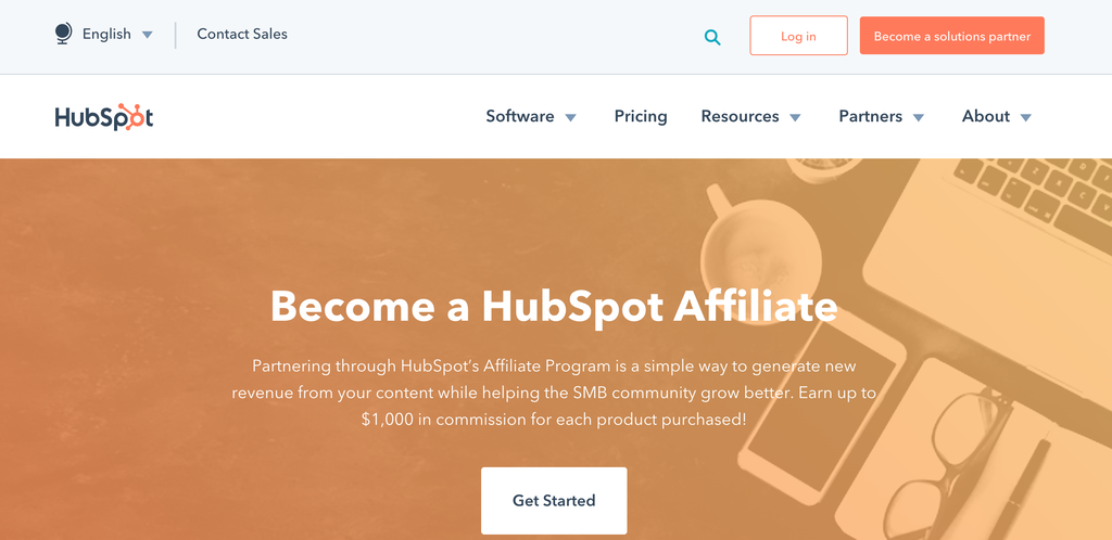 hubspot affiliates page