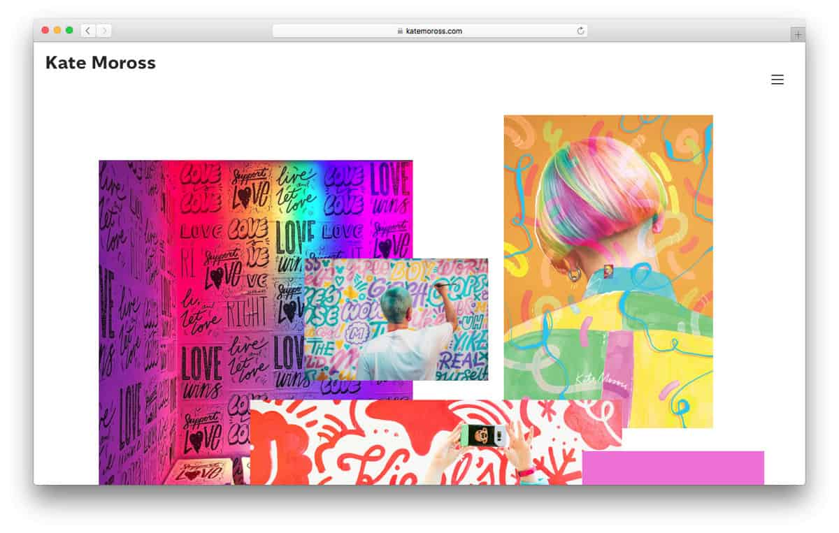 Kate Moross ha un sito Web brillante