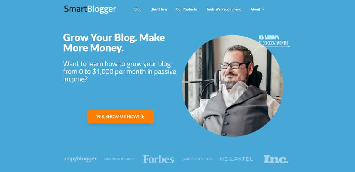 Membership site on how to make money blogging