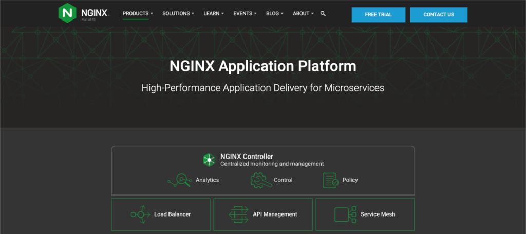 Screenshot of the nginx website