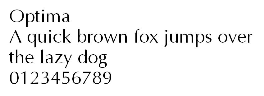 Optima typeface font an toàn