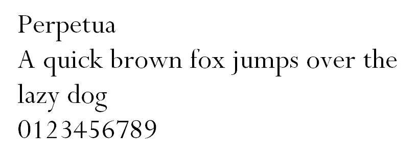 Perpetua font design